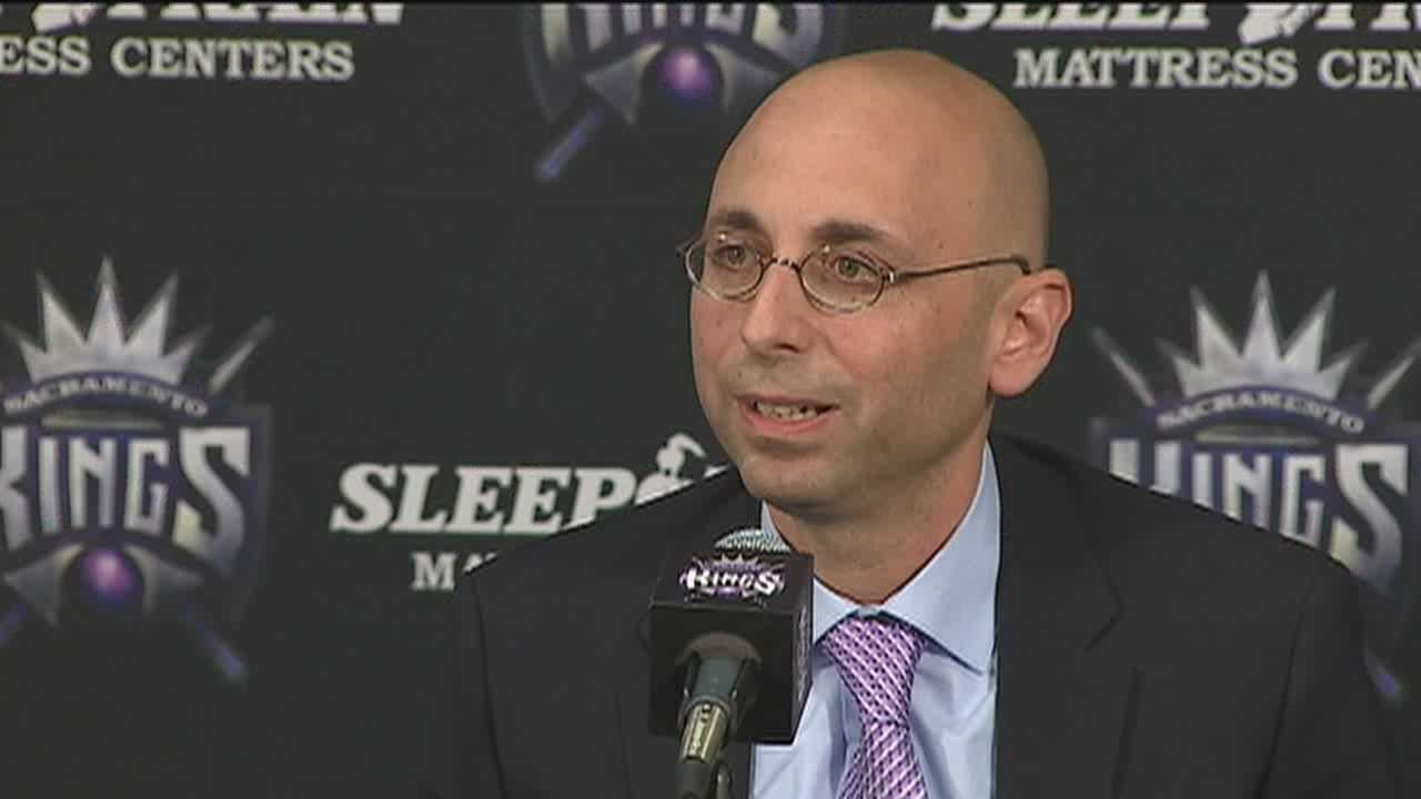 Pete D'Alessandro is introduced in Sacramento as the Kings' new general manager, and talks about his roots in basketball.