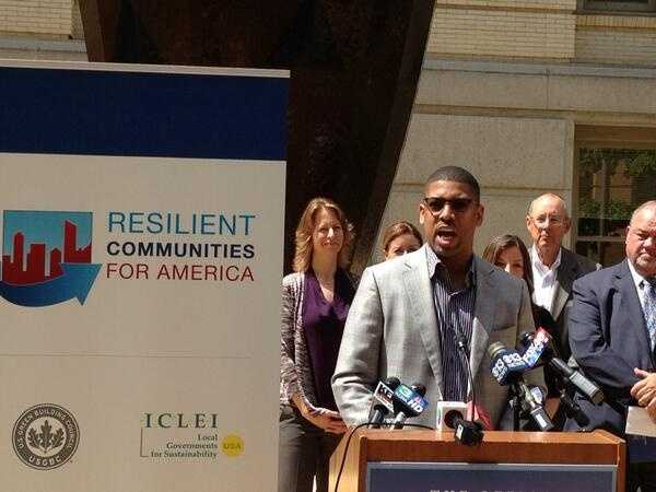 Sacramento Mayor Kevin Johnson appears at the State Capitol on June 18.