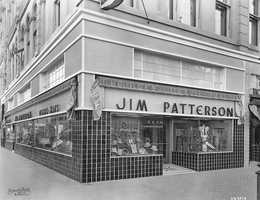 901 K Street: Once home to the Jim Patterson store in 1935, Estelle's Patisserie is now home to the blue tiles building on 901 K Street. Patterson's store was known for selling Stetson hats and men's clothing until it closed in the early 80s. The original blue tile can still be seen at Estelle's today.