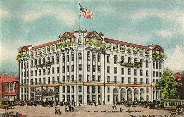 1000 K Street: Social Night Club resides at 1000 K Street, a former hotel that cost half a million dollars to build in 1909. The Hotel Sacramento is barely recognizable today because it was demolished in 1956 for a Woolworth store.