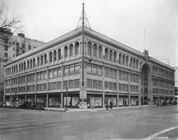 1120 K Street: Bank of America is home to 1120 K Street, formerly the Weinstock, Lubin & Company Department store. The store, modeled after a Parisian department store, was built in 1924 and cost more than a million dollars to build. The building has four stories, a marble and terra cotta finish and once held a children's milk bar and hair salon.