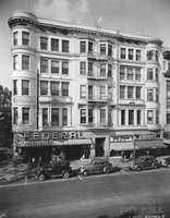 719 K Street: The Ochsner Building at 719 K Street was designed by Sacramento-based architect Rudolph Herold, who also designed the Masonic Temple and Sacramento City Hall. It is now home to the Plaza Cafe and maintains much of its original design.