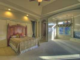 Take a look inside the master bedroom on the first floor of this home.