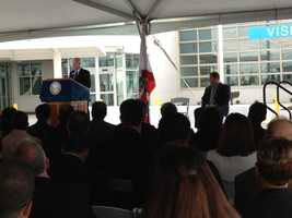 A dedication ceremony was held Tuesday for a new $839 million prison health facility in Stockton.