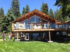 This mansion is one of several luxury homes that was part of the 17th annual Lake Tahoe Lakefront and Luxury Estates Tour (June 26, 2013).