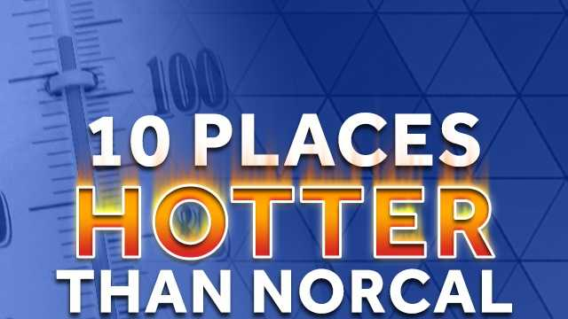 There is no denying that it will be hot Tuesday (the projected temperature in downtown Sacramento is 110 degrees), but it could be worse. These 10 places will likely be hotter than most locations in Northern California.