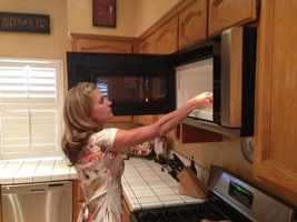 1. Use a microwave instead of an oven or stove top. This will use less electricity and won't create heat.
