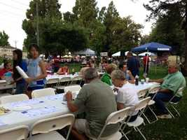 An Independence Day pancake breakfast was held in Lodi on Thursday. (July 4, 2013)