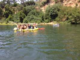 Sacramento Metro Fire crews were busy patrolling the American River on the Fourth of July. (July 4, 2013)