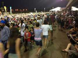 Crowds gather at Cal Expo for the big fireworks show.