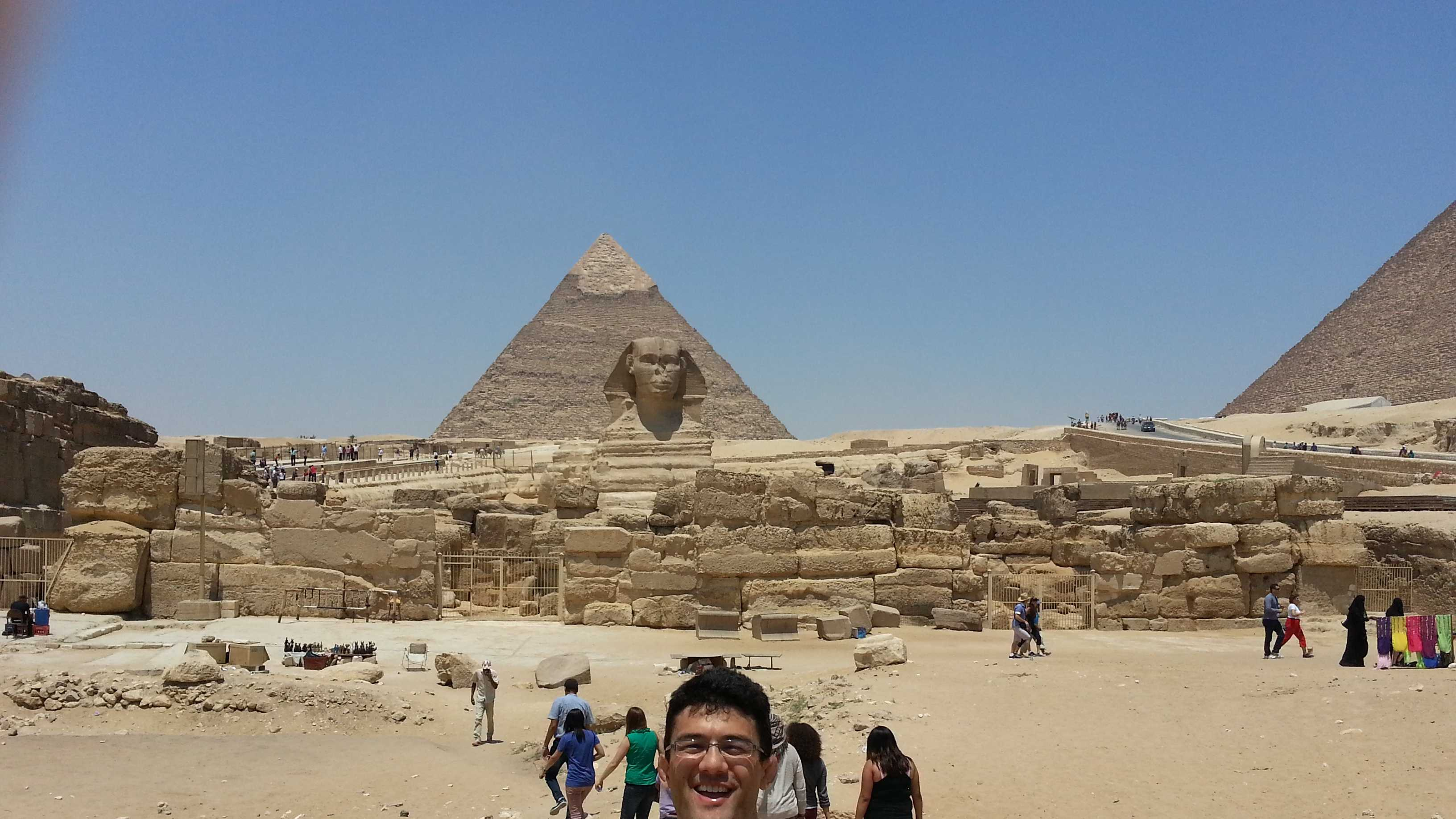 Jonny Goh, a UC Davis history major, recently returned from Egypt.