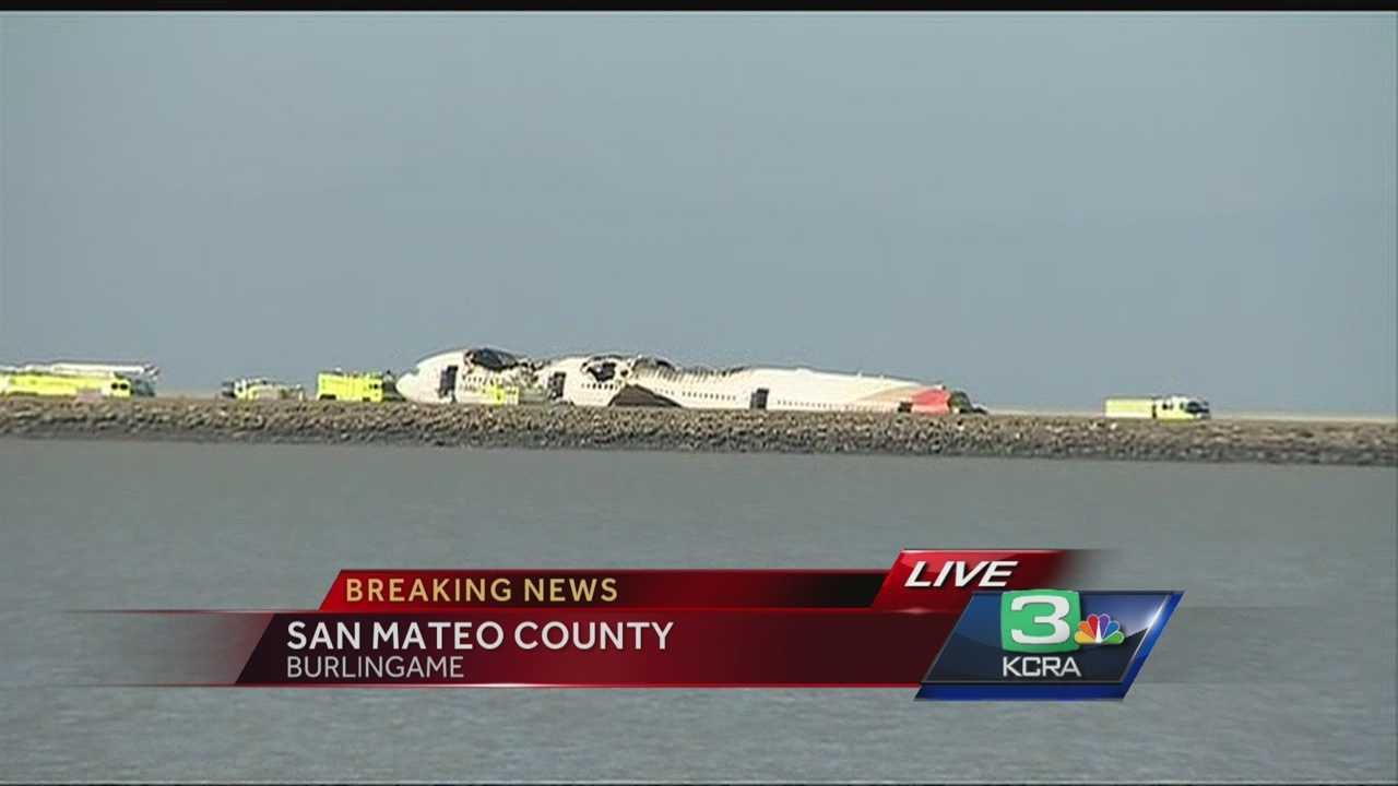 KCRA's Mike Luery reports from Burlingame, where you could see the fuselage of Asiana Airlines plane that crashed at San Francisco International