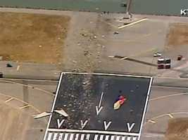 At 11:27 a.m., the plane's tail clipped the sea wall at San Francisco International Airport, before slamming onto Runway 28L.