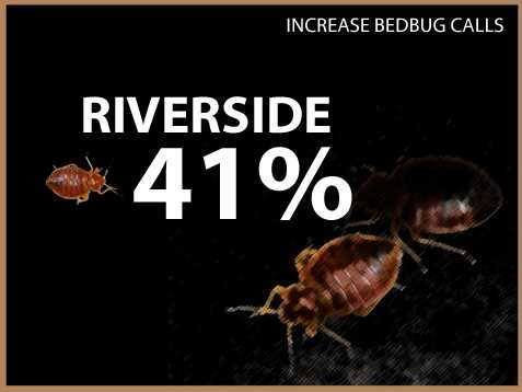 Riverside experienced a 41 percent increase in calls.