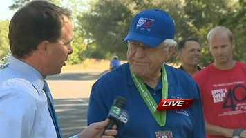 Eppie Johnson, founder of Eppie's Great Race, donates all the money from the race to the Sacramento County Therapeutic Recreation Services.