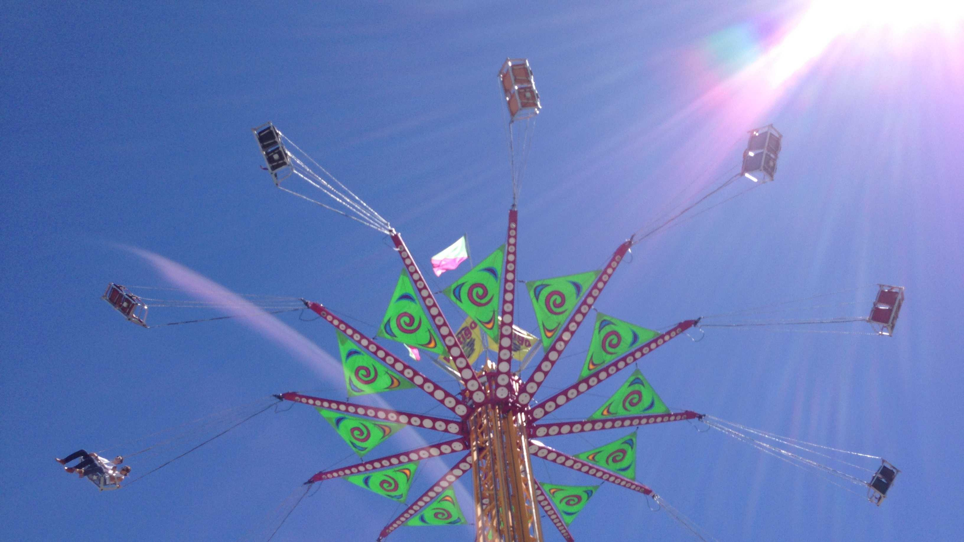 The Vertigo is a new ride at the State Fair. It takes people on a swing ride nearly 100 feet in the air.