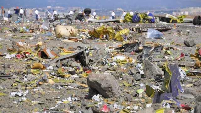 Asiana Airlines Flight 214 debris