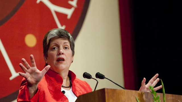 Janet Napolitano spoke at Santa Clara University in 2009 as part of the school's President's Speaker Series.