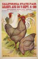 This poster, from 1909, advertised the large poultry aspect of the State Fair.