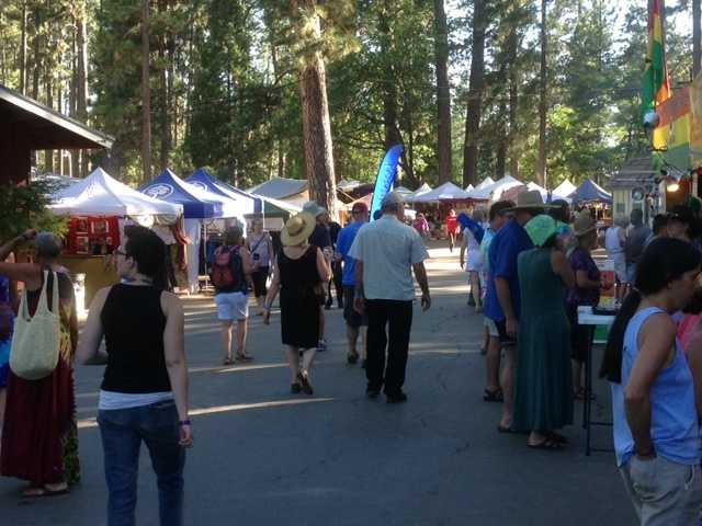 The festival grounds are in Grass Valley (July 12, 2013).