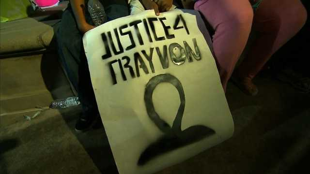 Pro-Trayvon Martin demonstrator