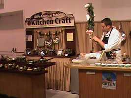 One of the many cooking demonstrations and booths at the State Fair.