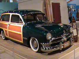 """Often seen on Highway 101, the """"woodie"""" body style came to be associated with California beaches and California life."""