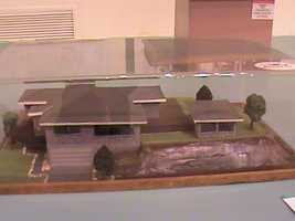 Model homes, made to scale, showcase the detail work of many of the contributors.
