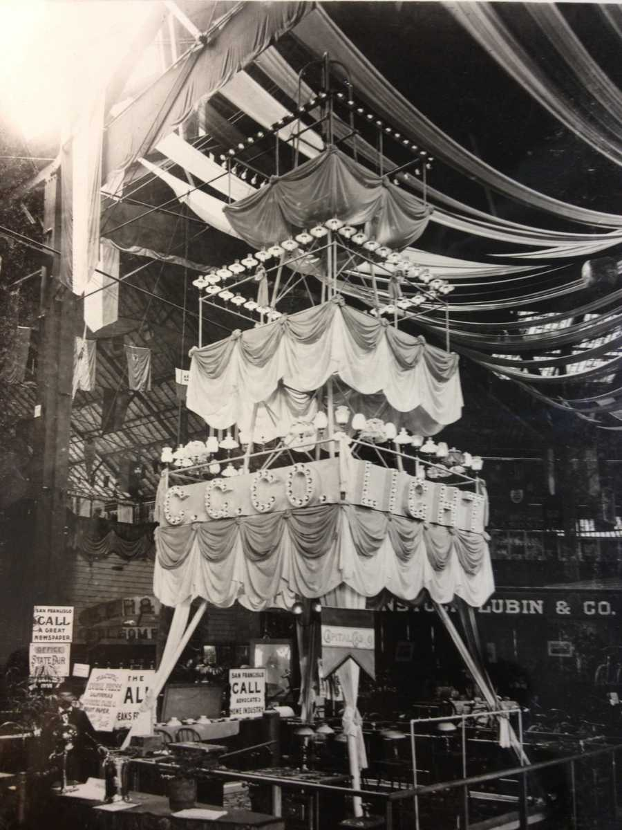 """The State Fair created competition between California's counties for """"bragging rights,"""" in 1870. This exhibit by the Capital Gas Company made its debut in 1895."""