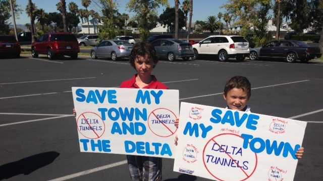 tunnel, protest, discovery bay, twin tunnels, delta, delta water, water