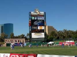 Sacramento Soccer Day took place at Raley Field Thursday night and featured two exhibition matches. (July 18, 2013)