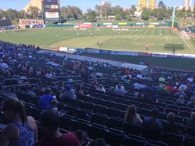 Sacramento Soccer Day was held at Raley Field Thursday. (July 18, 2013)