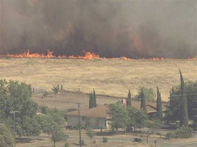 LiveCopter 3 took the following pictures of a grass fire that broke out at Highway 16 and Excelsior Road in Sacramento County on Friday.