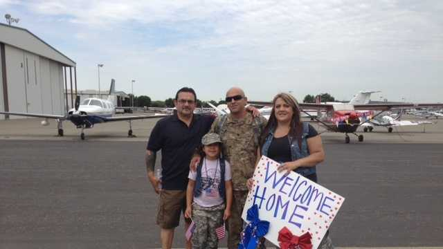 More than 100 members of the California National Guard returned to Stockton on Tuesday after nearly one year in Afghanistan (July 23, 2013).