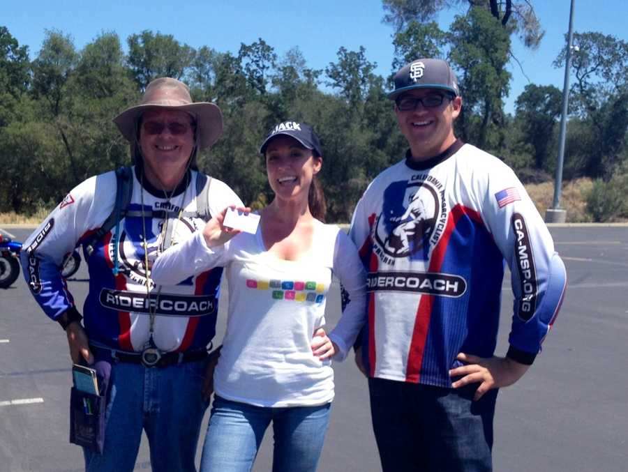 I passed the class! Woohoo! Rider Coaches Dan Templeton (teaching for 29 years) and Zachariah Lytal, one of the nation's youngest rider coaches. Both were the epitome of what a coach should be, knowledgeable, patient, supportive, good humored, and did I mention patient?