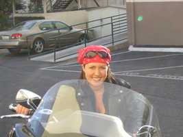 Here I am on my dad's bike in Ventura.