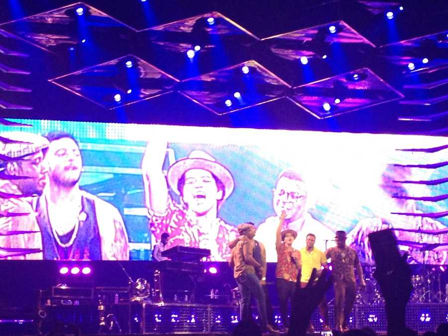 Bruno Mars and his Moonshine Jungle Tour are making stops at 25 more cities across the country, including a sold-out show in Sacramento on Wednesday night (July 24, 2013).