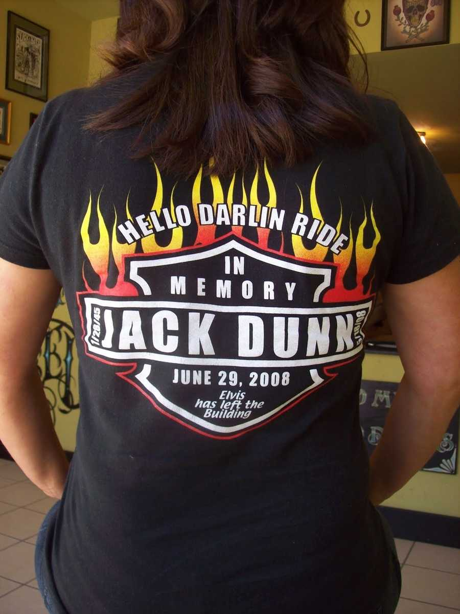 One of the T-shirts made for my dad's annual memorial ride.