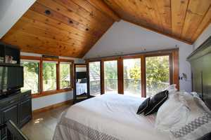 Here's a look inside the master bedroom.
