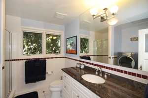 Take a peek inside one of the restrooms.