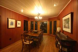 Here's another view of the dining room.