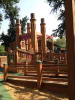 See a preview of the nearly rebuilt McKinley Park playground, which is reopening nearlyayear after being burned down.