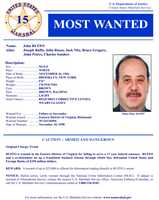 John RuffoWanted on charges of: Failing to surrender for a 17-year federal sentence.Click here to see full wanted poster
