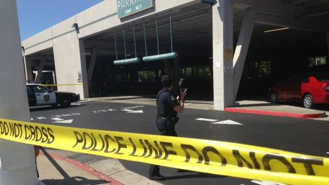 Police responded Wednesday to reports of shots fired at a parking structure at the Arden Fair Mall.