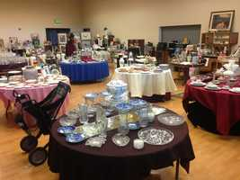 """Divine Savior Church is celebrating 20 years of hosting the annual """"Treasure Fest"""" rummage sale at their chat their Greenback Lane campus."""