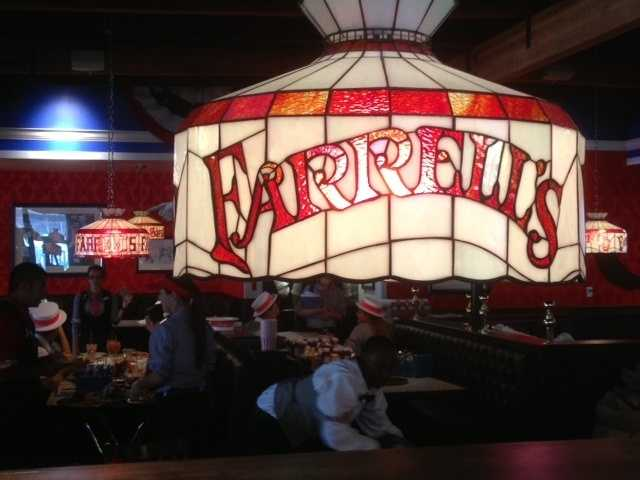 The interior of the restaurant is an upscale version of the original Farrell's restaurants, which peaked in popularity in the 1970s and had locations nationwide.