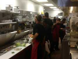 Farrell's busy kitchen staff worked hard to learn the new menu.
