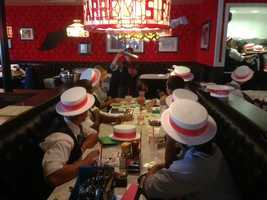 127 new employees of Farrell's Ice Cream Parlour spent the weekend training for Thursday's opening in Sacramento.