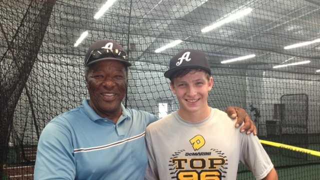 Leon Lee at The Academy baseball training facility. (Aug. 5, 2013)