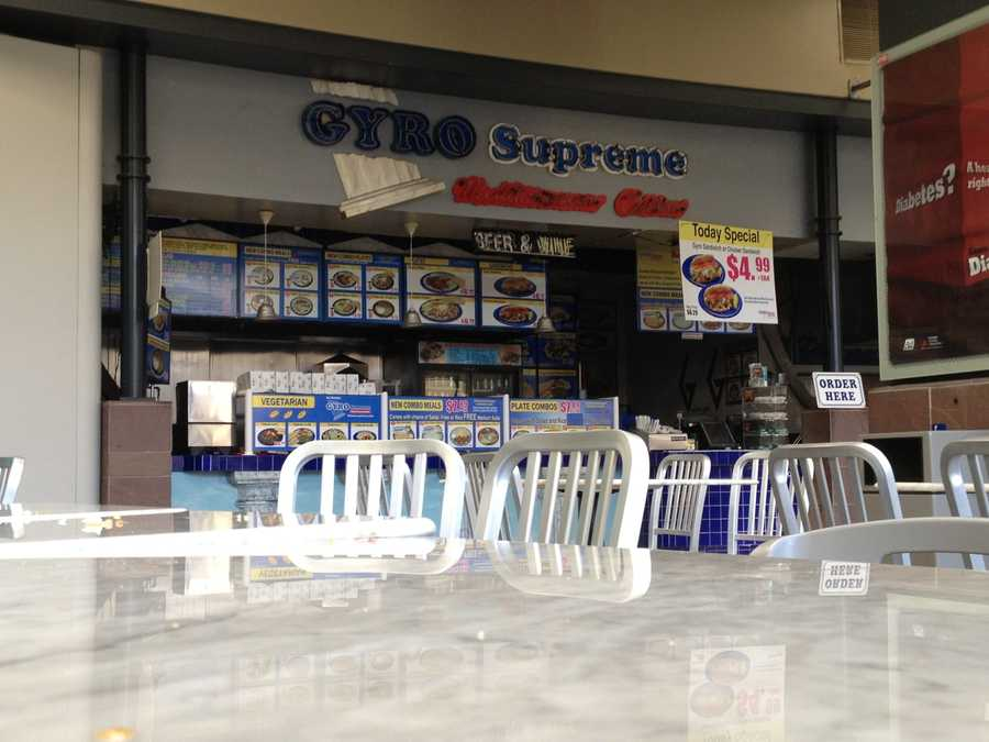 There wasn't a single customer at GYRO Supreme Mediterranean Cuisine restaurant at the K Street Mall's food court on Monday afternoon (Aug. 5, 2013).